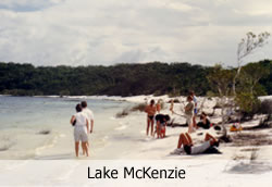 Perched lake on Fraser Island