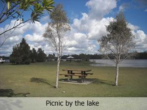 Picnic area at Lake Lenthall