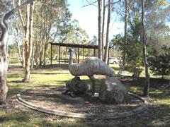 Statue of an emu in Wook-Koo Park